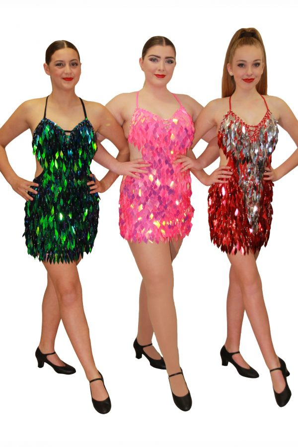Burlesque - Green, Pink & Red