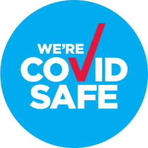 We're COVID SAFE badge